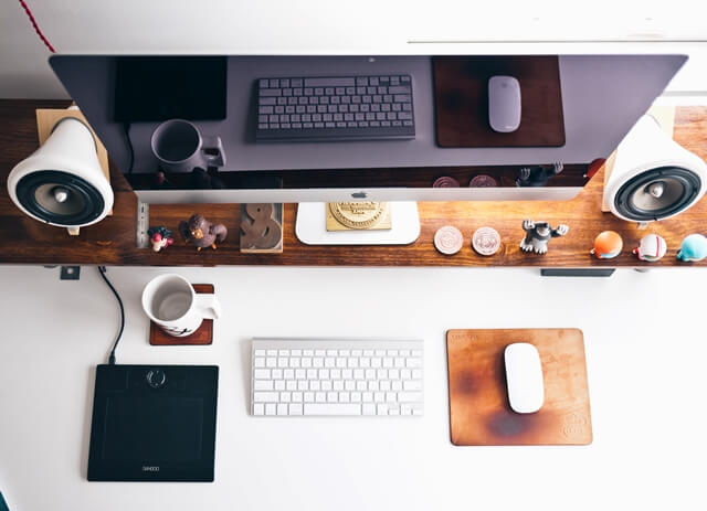 Macとオシャレな配置な画像