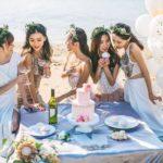 ウェディング女性のパーティー画像