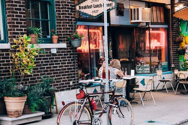 レストラン前の写真