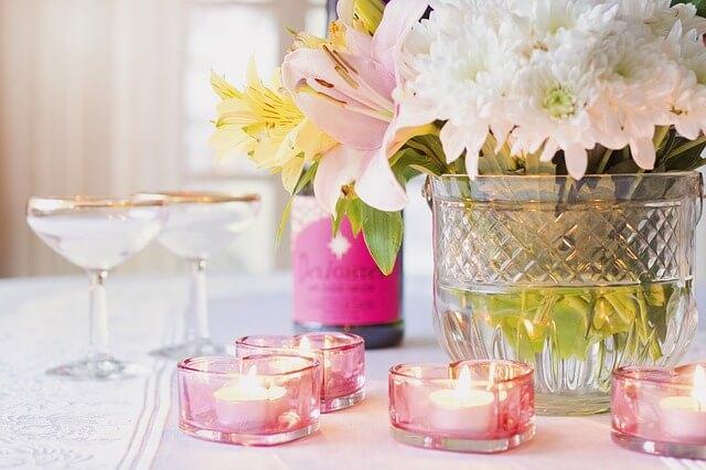 花とグラス