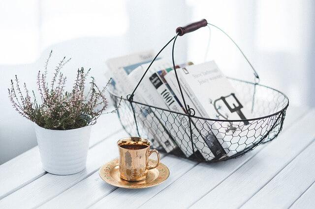 新聞の紅茶