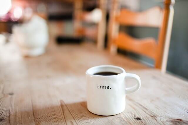 カフェとコーヒーを一杯